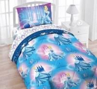 Disney Cinderella Twin 4pc Bedding Set Blue Comforter ...