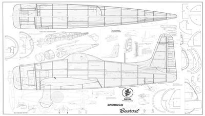 ROYAL/Marutaka GRUMMAN F8F BEARCAT Plans, Patterns