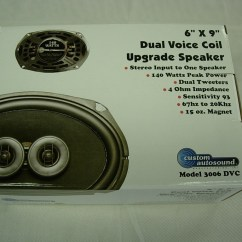 Dual Voice Coil 6x9 Electrical Wiring Diagrams For Cars Custom Autosound Quot Speaker 140w Ebay