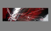 HUGE ABSTRACT CANVAS PAINTING WALL ART black , white and ...