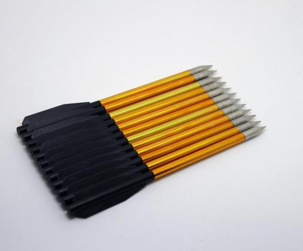 Gold Mini Aluminum Arrows Bolts 50 - 80 Lbs