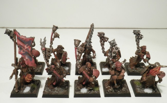 Empire Flagellant Warband X 10 Well Painted Figures