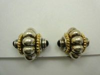 Vintage Antique Button Clip On Earrings | eBay