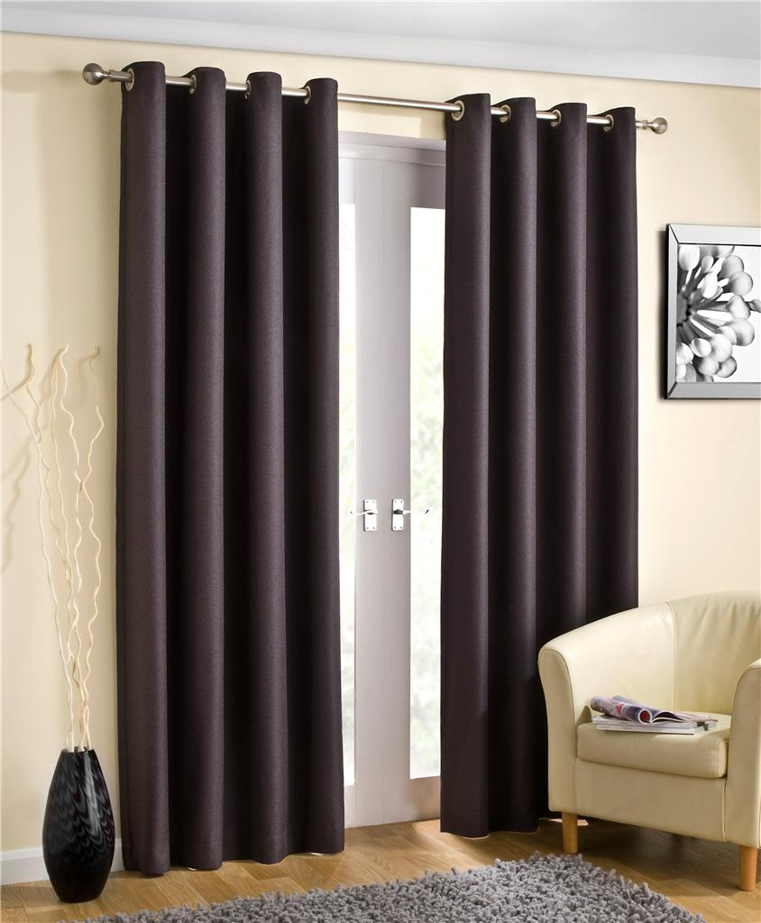 WETHERBY Thermal Lined Eyelet Curtains Ready Made Ring Top