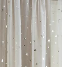 STARLIGHT MOONLIGHT SHEER WHITE & SILVER VOILE PANEL ...