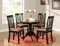 5 PC ROUND TABLE DINETTE KITCHEN TABLE & 4 CHAIRS OAK | eBay