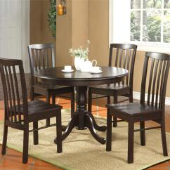 Round Kitchen Table And Chairs Set Folding Chair In Ahmedabad 5pc Dinette 4 Walnut Ebay