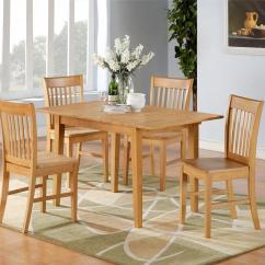 Kitchen Tables With Chairs Commercial Equipment For Sale 5pc Norfolk Rectangular Dinette Dining Table