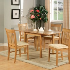 Oak Kitchen Table Sets Small Rugs 5pc Rectangular Dinette Set 4 Chairs Ebay