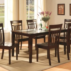 Kitchen Table And Chair Royal Blue Accent 7 Pc Capri Dinette Dining Room Set With 6