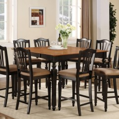 Dining Table And Chairs Dublin Mission Style For Sale 7pc Square Counter Height Room Set 6 Stool | Ebay