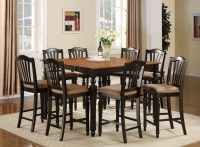 7PC SQUARE COUNTER HEIGHT DINING ROOM TABLE SET 6 STOOL | eBay