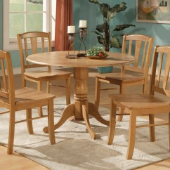 Kitchen Table And Chair Scandinavian Kneeling 5pc Round Dinette Dining Set 4 Chairs Ebay