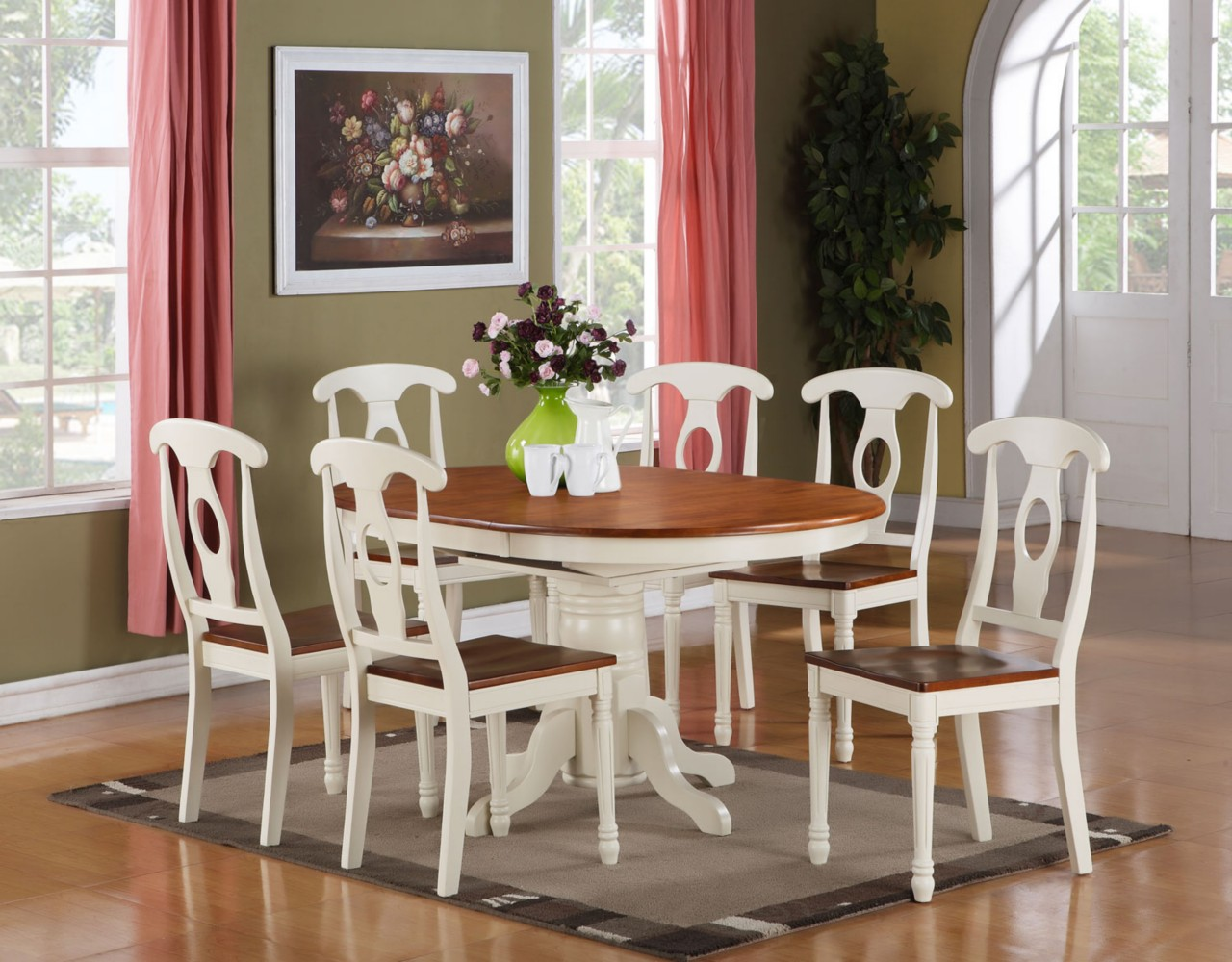 Kitchen And Dining Room Chairs 5pc Oval Dinette Kitchen Dining Room Set Table With 4