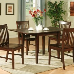 4 Kitchen Chairs Chair Design For Wedding 5pc Rectangular Dinette Table Mahogany Ebay