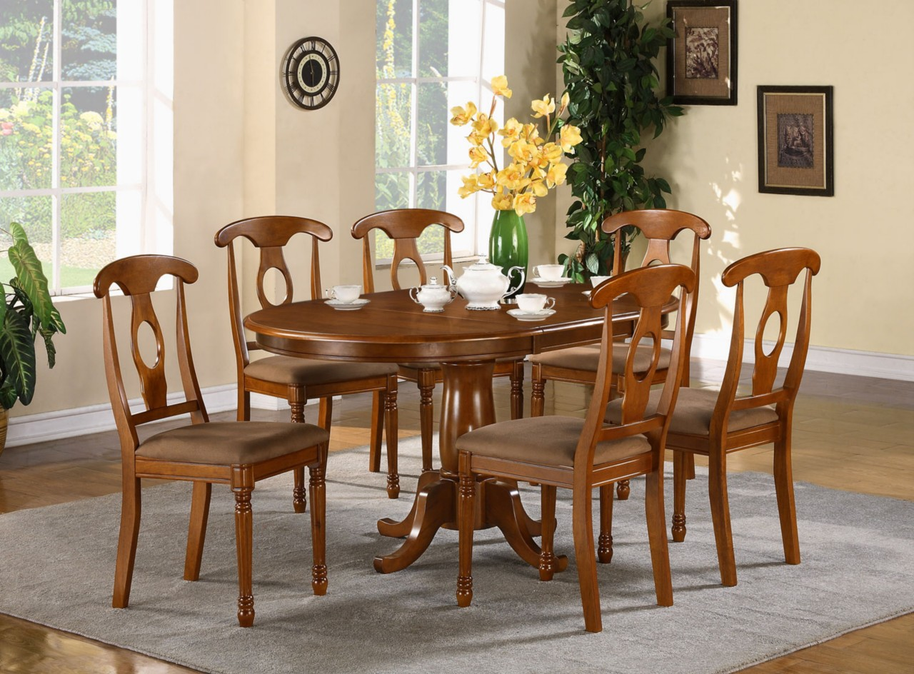 breakfast table and chairs set toddler foam chair 5 pc oval dinette dining room 4 ebay