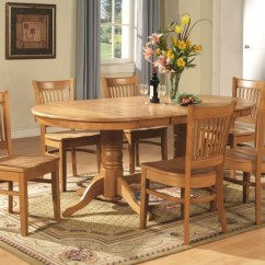 Dinning Room Table And Chairs Bar Stool Chair Covers 9 Pc Vancouver Oval Dinette Kitchen Dining Set