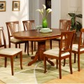 Pc avon oval dinette kitchen dining room table with 6 chairs in