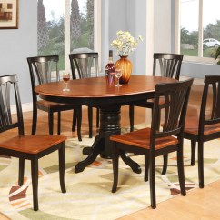 Dining Room Table Sofa Inserts Foam 7 Pc Oval Dinette Kitchen And 6 Chairs Ebay