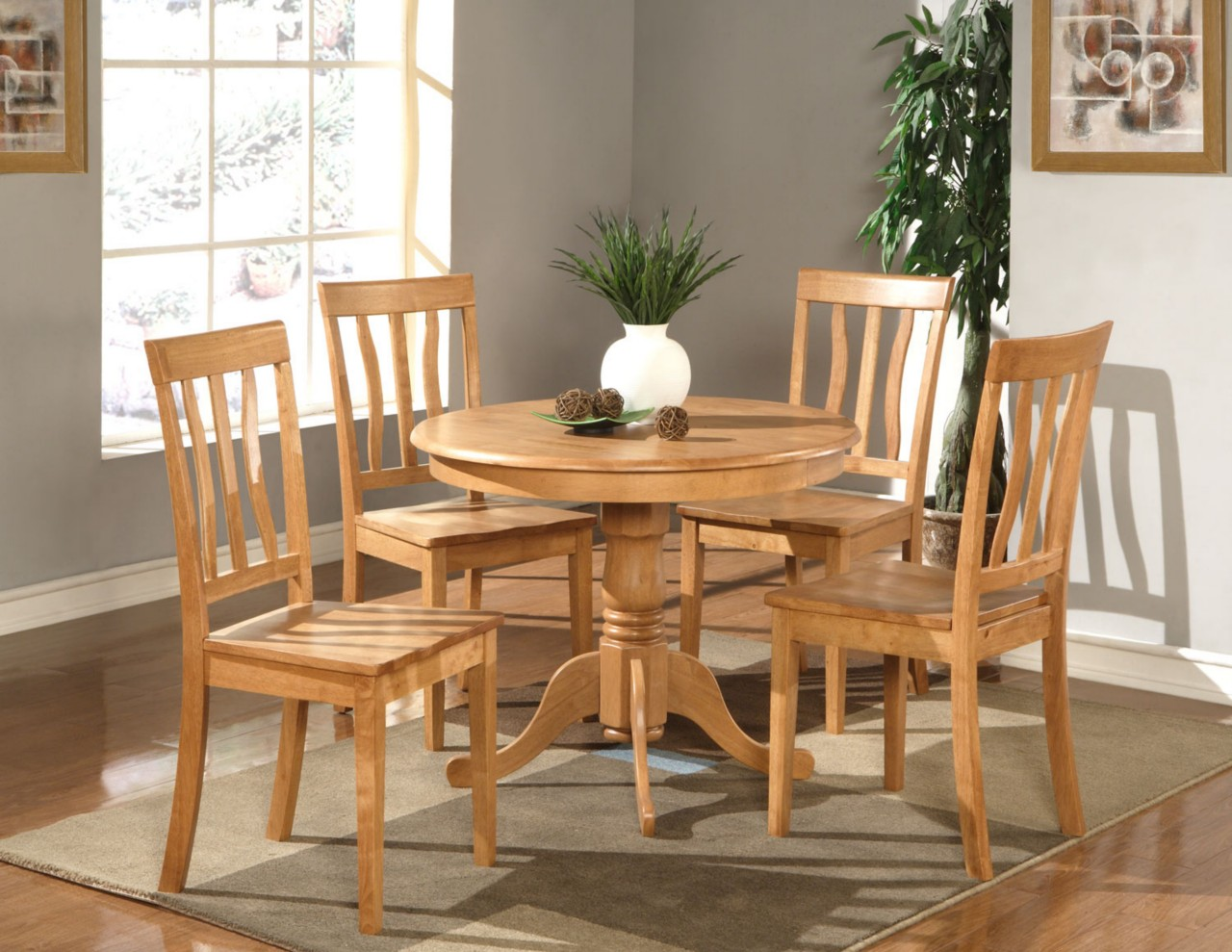 round wooden chair tommy bahama event 5 pc dinette kitchen table with 4 wood seat chairs
