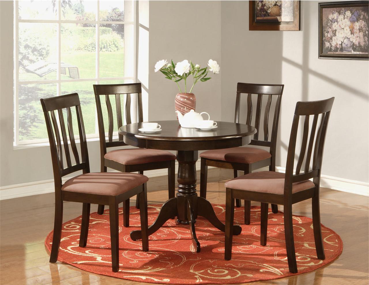 4 kitchen chairs best nursing 5 pc round table dinette and ebay