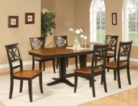 9PC DINETTE DINING ROOM SET OCTAGONAL TABLE w/ 8 WOODEN ...
