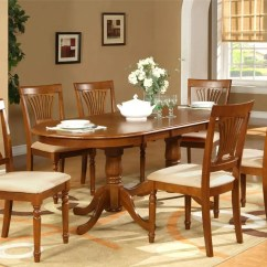 Dining Table Set 6 Chairs Adams Adirondack Chair Green 7pc Oval Room 42 Quotx78 Quot With Leaf And