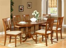 """7pc Oval Dining Room Set Table 42""""x78"""" With Leaf And 6"""