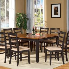8 Chair Square Dining Table With Desk Arm 9 Pc Dinette Room Set And Chairs Ebay