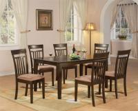 7 PC DINING ROOM DINETTE KITCHEN SET TABLE AND 6 CHAIRS | eBay