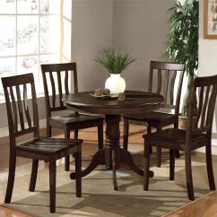 Black Round Kitchen Table And Chairs Office Chair Overstock Sets At The Galleria