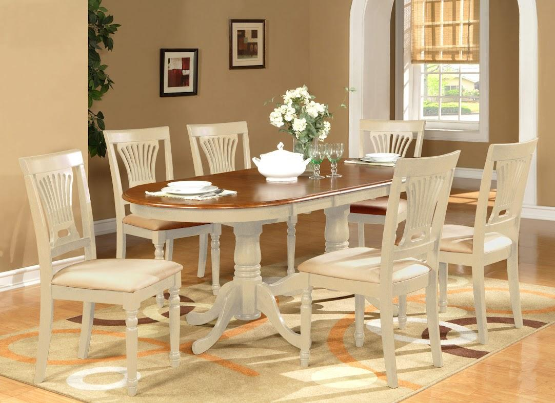 oval kitchen table sets washable cotton rugs for dinette dining room set extension leaf w 6