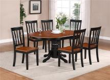 7-pc Oval Dinette Kitchen Dining Set Table With 6 Wood Seat