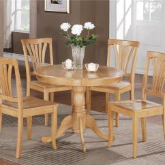 Oak Kitchen Chairs Diy Toddler Table And Wood 5 Pc Round Bristol Dinette 4