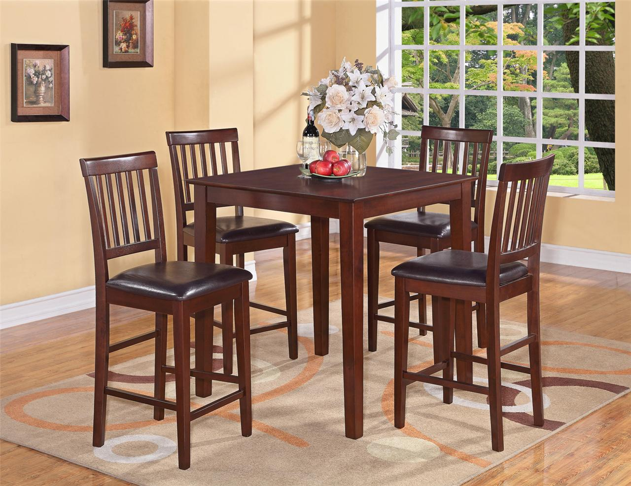tall table and chairs swinging hammock chair 5pc vernon square counter height kitchen with 4