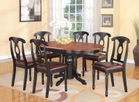 5-PC OVAL DINETTE KITCHEN DINING SET TABLE w/ 4 LEATHER ...