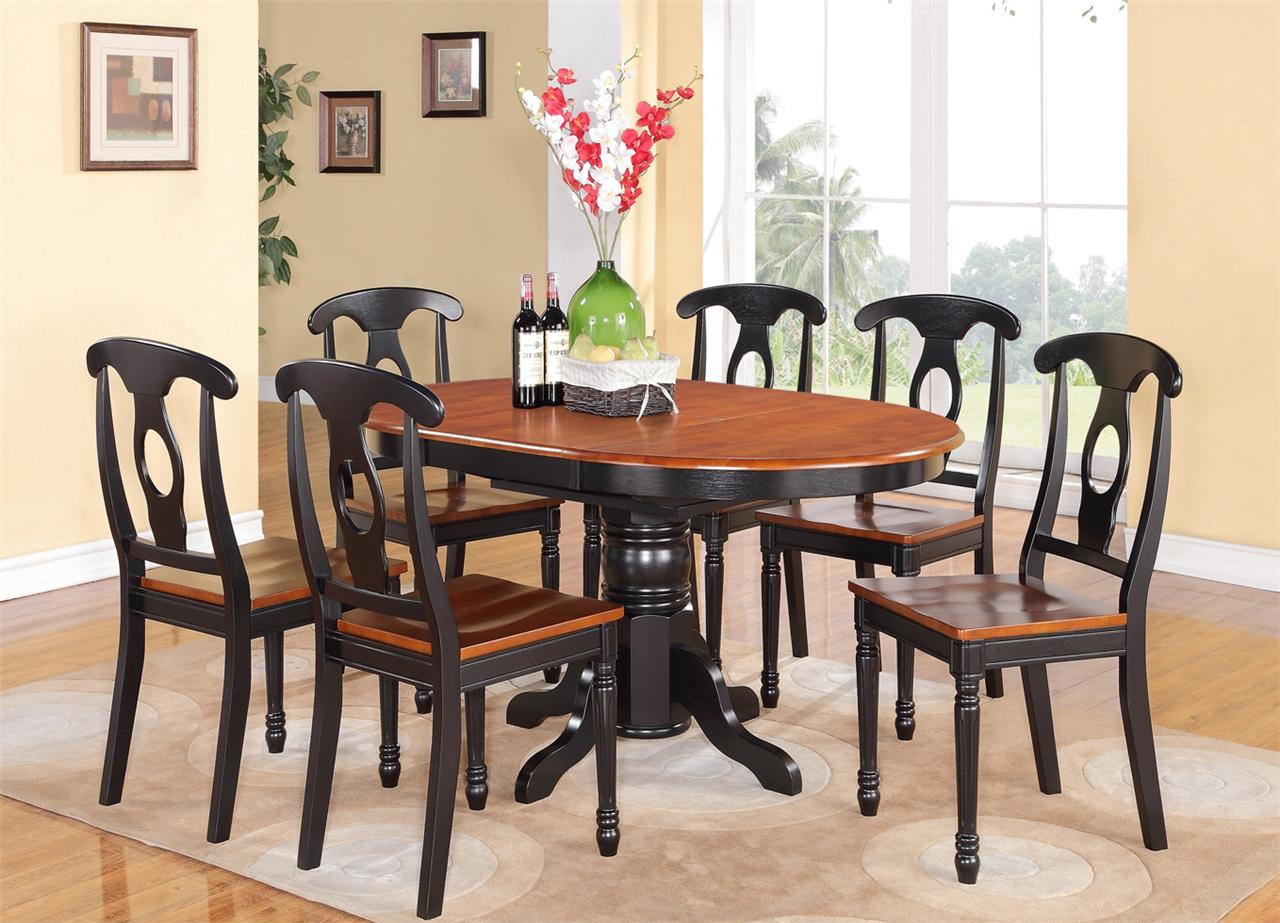 5PC OVAL DINETTE KITCHEN DINING SET TABLE w 4 WOOD SEAT CHAIRS IN BLACK CHERRY  eBay