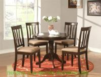 ROUND TABLE DINETTE KITCHEN TABLE IN CAPPUCCINO FINISH 36 ...