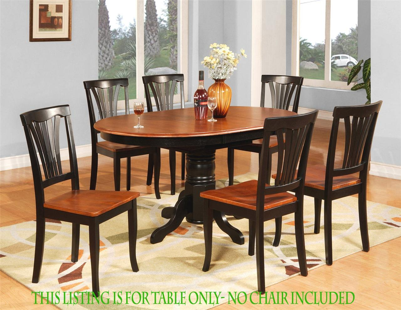 OVAL DINETTE KITCHEN DINING ROOM TABLE ONLY 42x 60 WITH