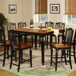 Counter Height Kitchen Tables Cabinetry Square Dining Dinette Table Black