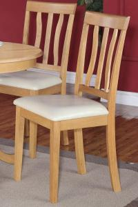 SET OF 3 DINETTE KITCHEN PADDED DINING CHAIRS with LEATHER ...