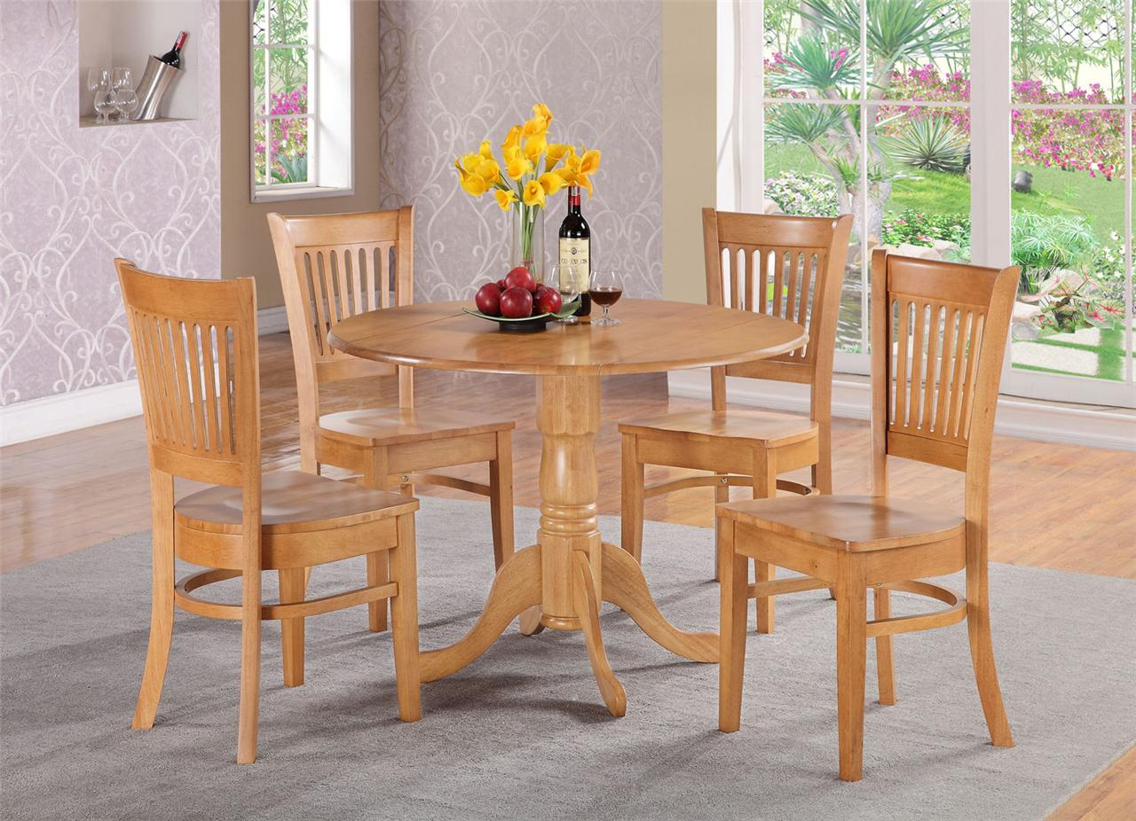 oak kitchen table sets wooden plate rack cabinet 3pc round dinette dining set w 2 wood seat