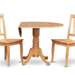 Round Oak Table And 6 Chairs Cheap Living Room For Sale 3pc Dinette Kitchen Set 42 Quot 2 Wood Seat