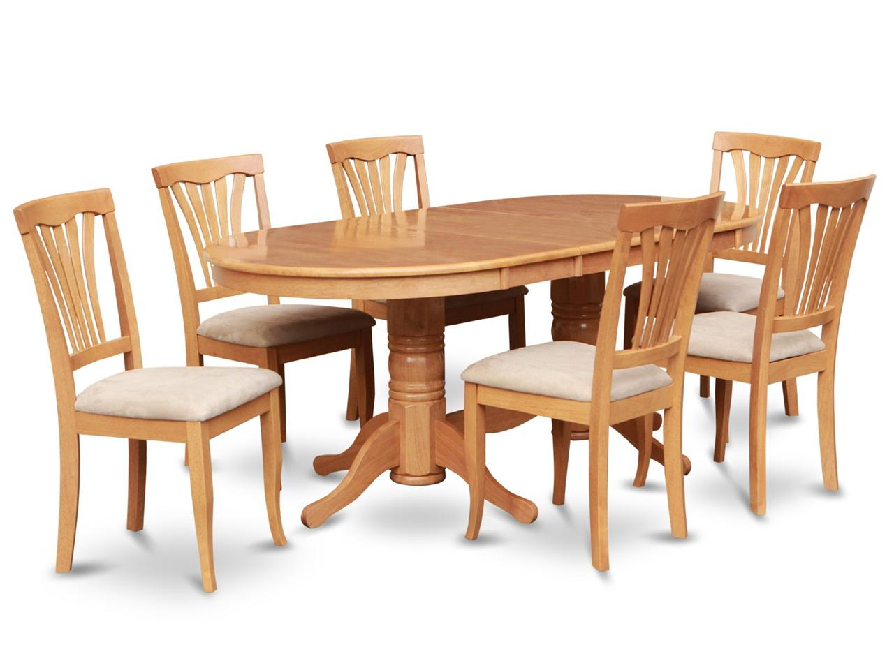 6 Dining Room Chairs 7pc Oval Dinette Kitchen Dining Room Set Table With 6