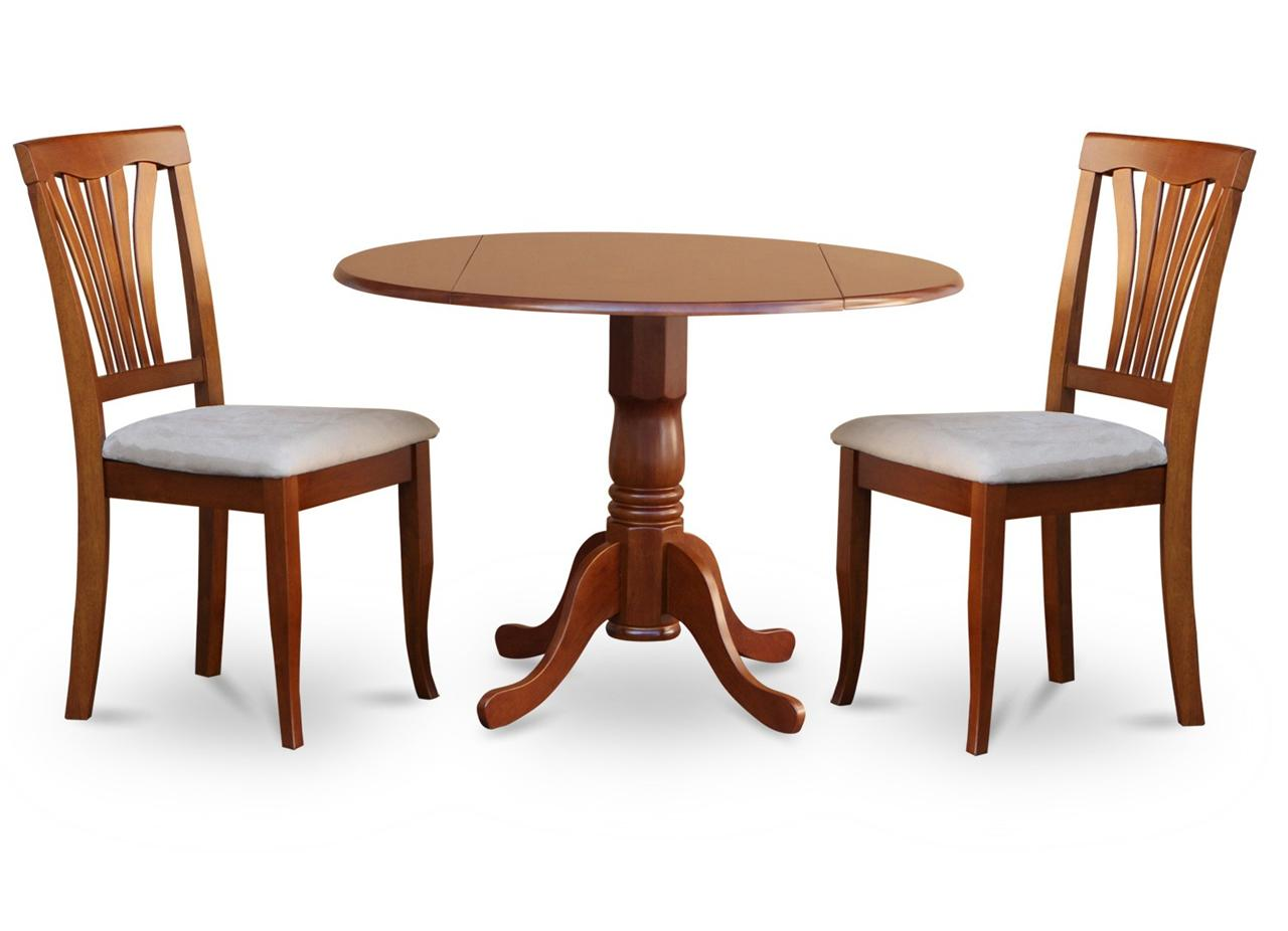 Round Kitchen Table And Chairs Set 3pc Kitchen Dinette Set Round 42 Quot Table And 2 Wood Seat