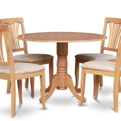 Round Kitchen Table And Chairs Set Carolina Panthers Folding 5pc Dinette 42 In 4