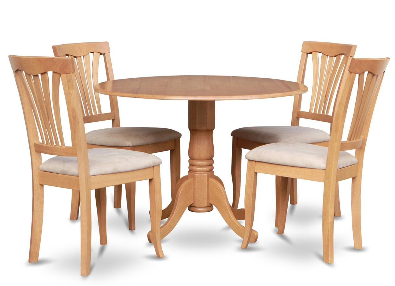 Round Kitchen Table And Chairs 5pc Dinette Kitchen Set Round 42 In Round Table And 4