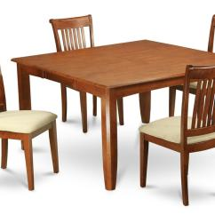 Square Table With 8 Chairs Black Spandex Chair Covers Rental 9pc Set Dinette Kitchen Dining