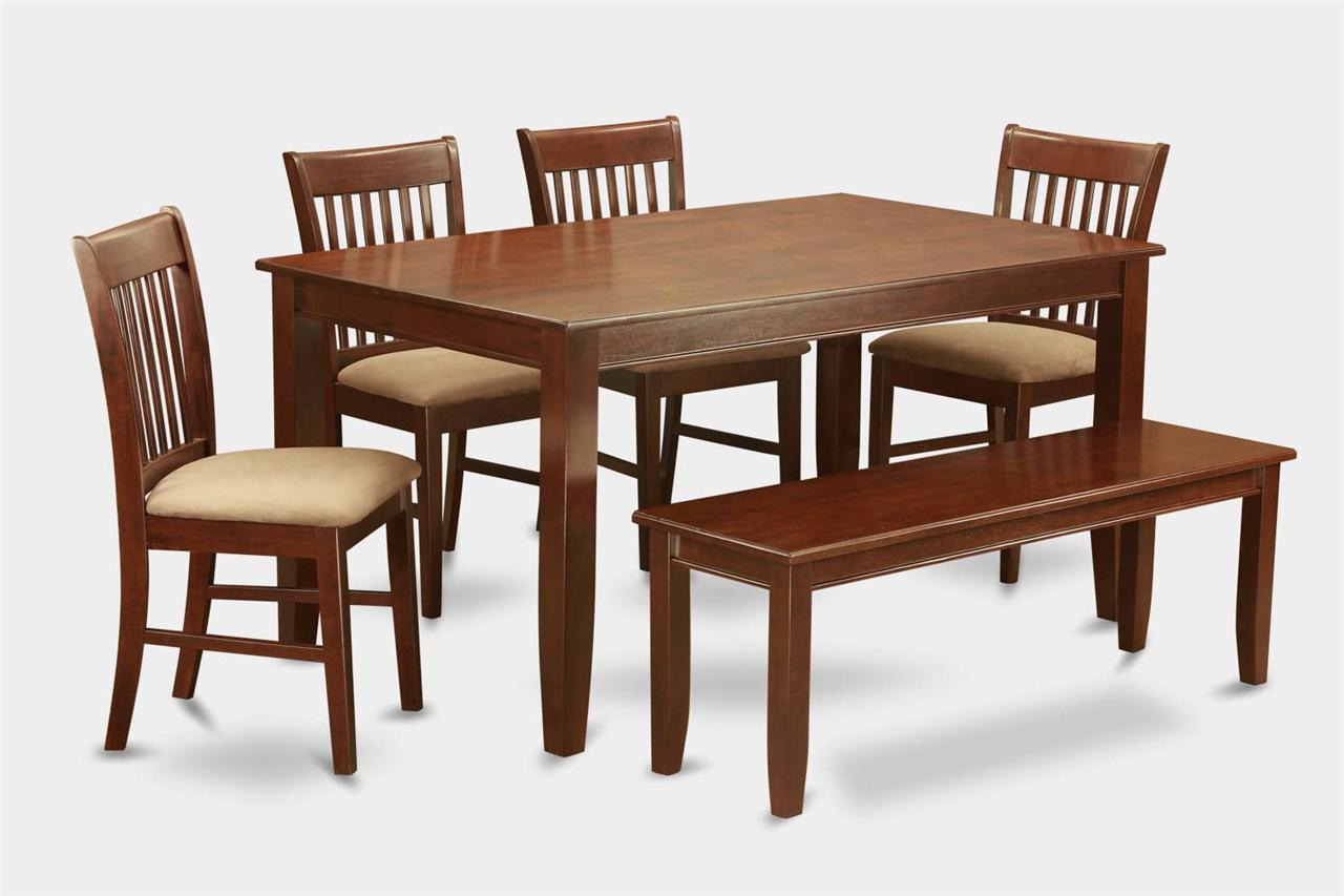 Upholstered Kitchen Chairs 6pc Set Dinette Kitchen Table With 4 Upholstered Chairs