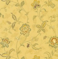 Wallpaper Designer French Country Yellow Jacobean ...